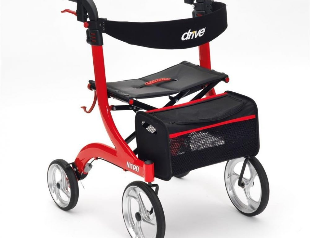 Nitro Four Wheel Walker with Seat Review
