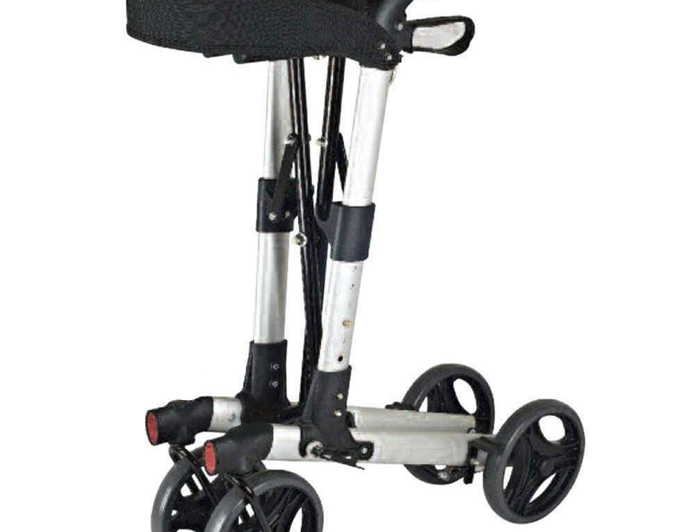 Folding Walker with Seat and Wheels