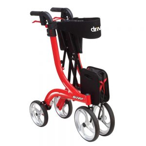 four wheel walker with seat