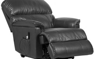 canterbury black leather recliner chair
