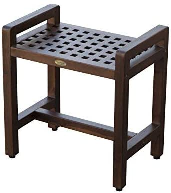 decoteak wooden shower seat