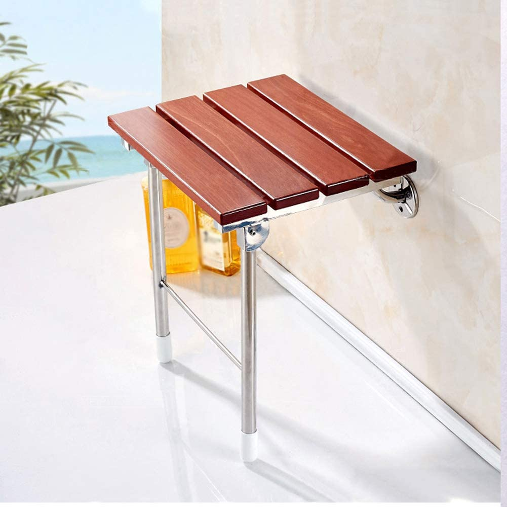 gxni folding wooden shower seat