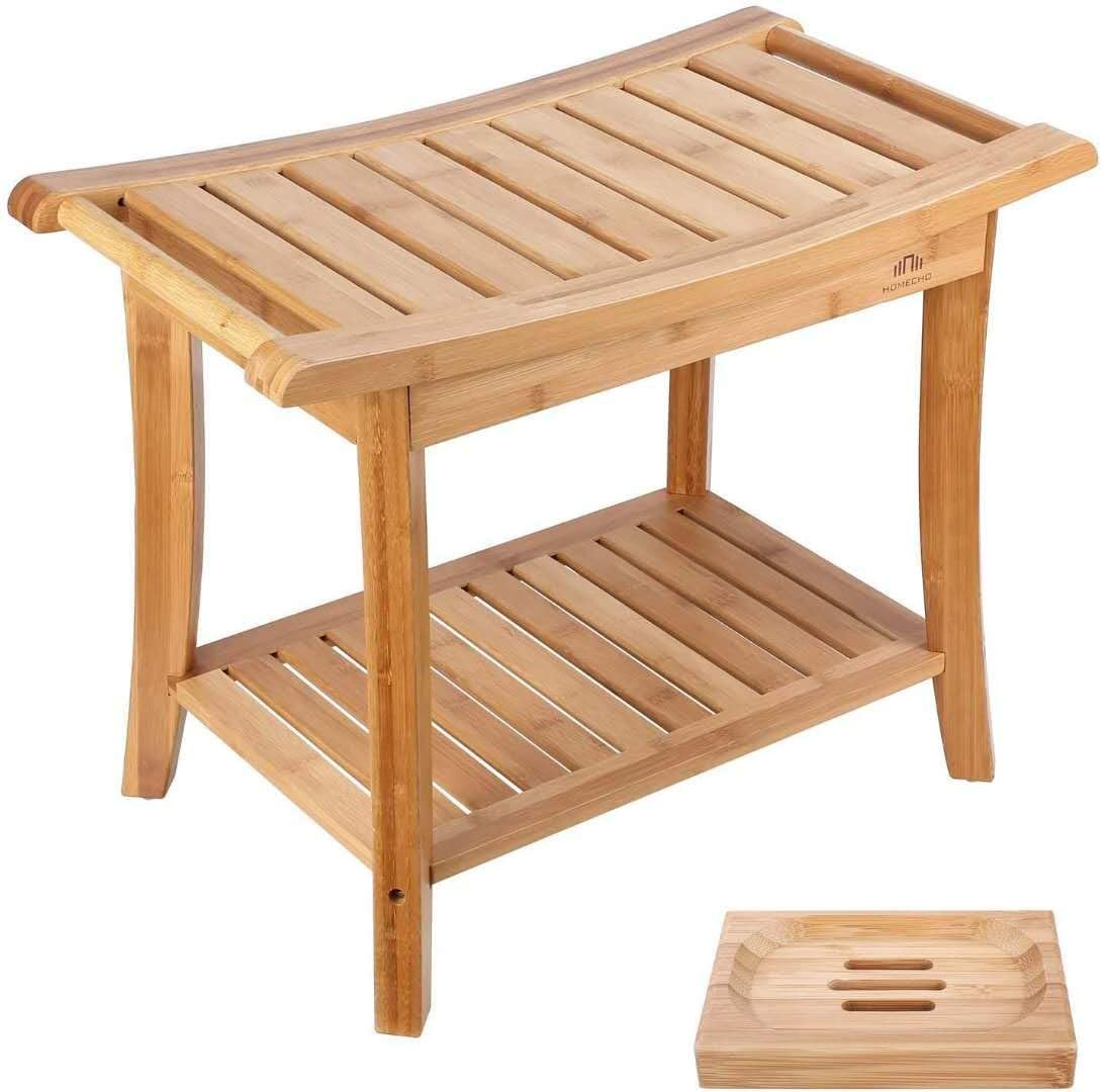 homecho bamboo shower seat