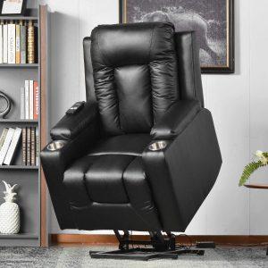 btm leather riser recliner chair