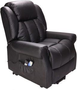 hainworth dual motor leather riser recliner chair