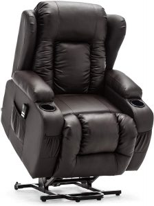 more4homes caesar leather riser recliner