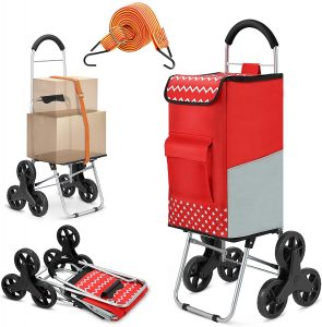 popolic shopping trolley with six wheels